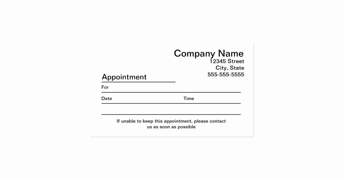 Free Printable Appointment Reminder Cards Lovely Medical Appointment Cards Templates Bing Image Card Templates Free Appointment Cards Business Card Appointment
