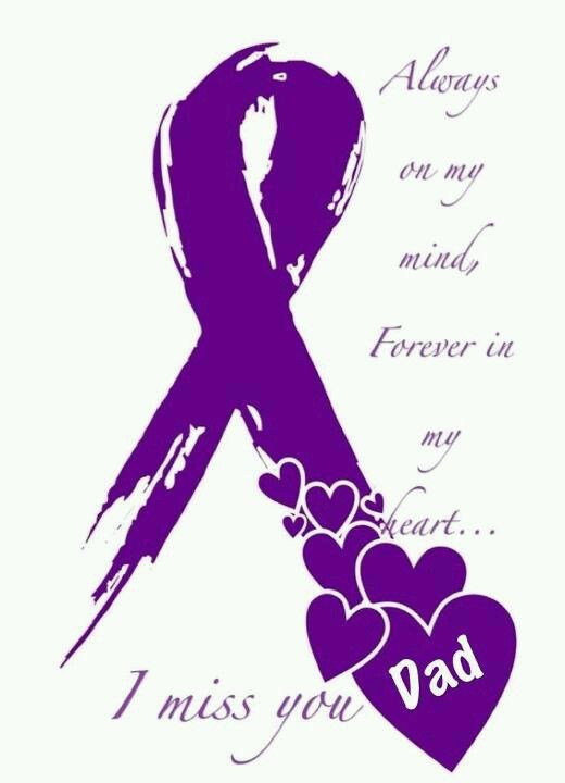 inktastic I Wear Purple for My Dad Pancreatic Cancer Awareness Baby T-Shirt