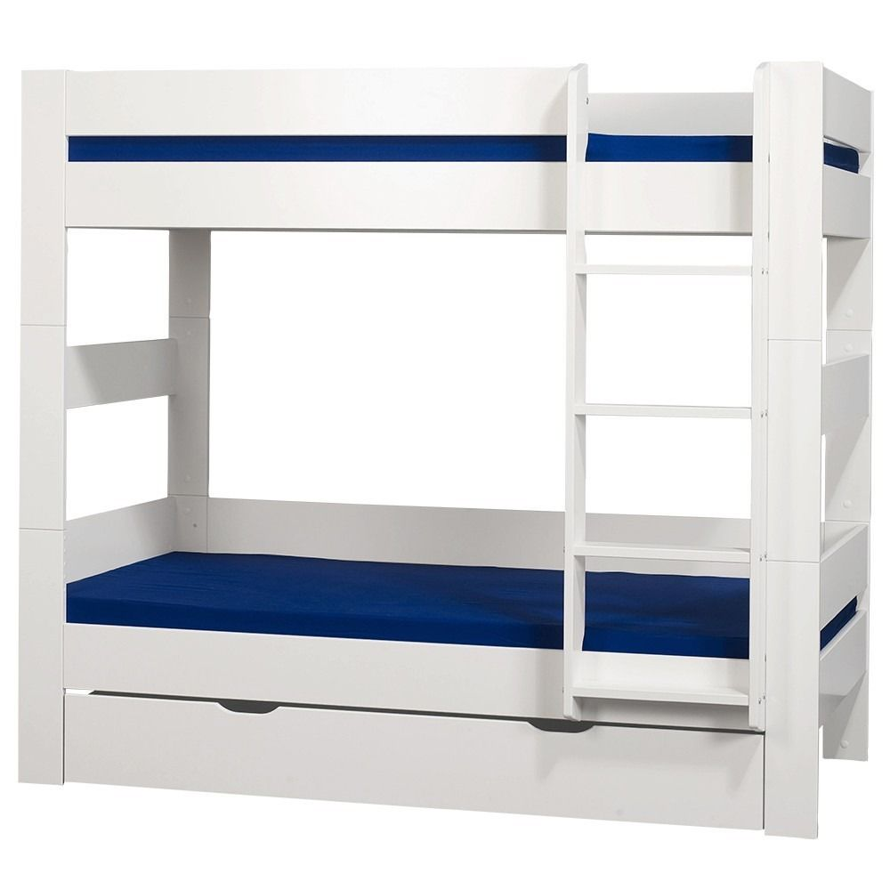 Kids world mid sleeper white bed features a contemporary design with