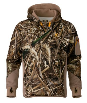 112f8ab34327c Browning Wicked Wing Smoothbore Fleece Hoodie for Men - Realtree Max-5 - 2XL