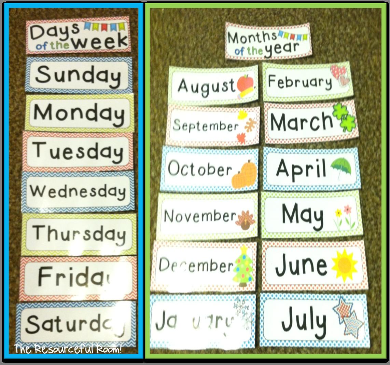 Classroom Freebies Too: Calendar Freebies!