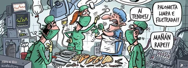 Cirugía peces.