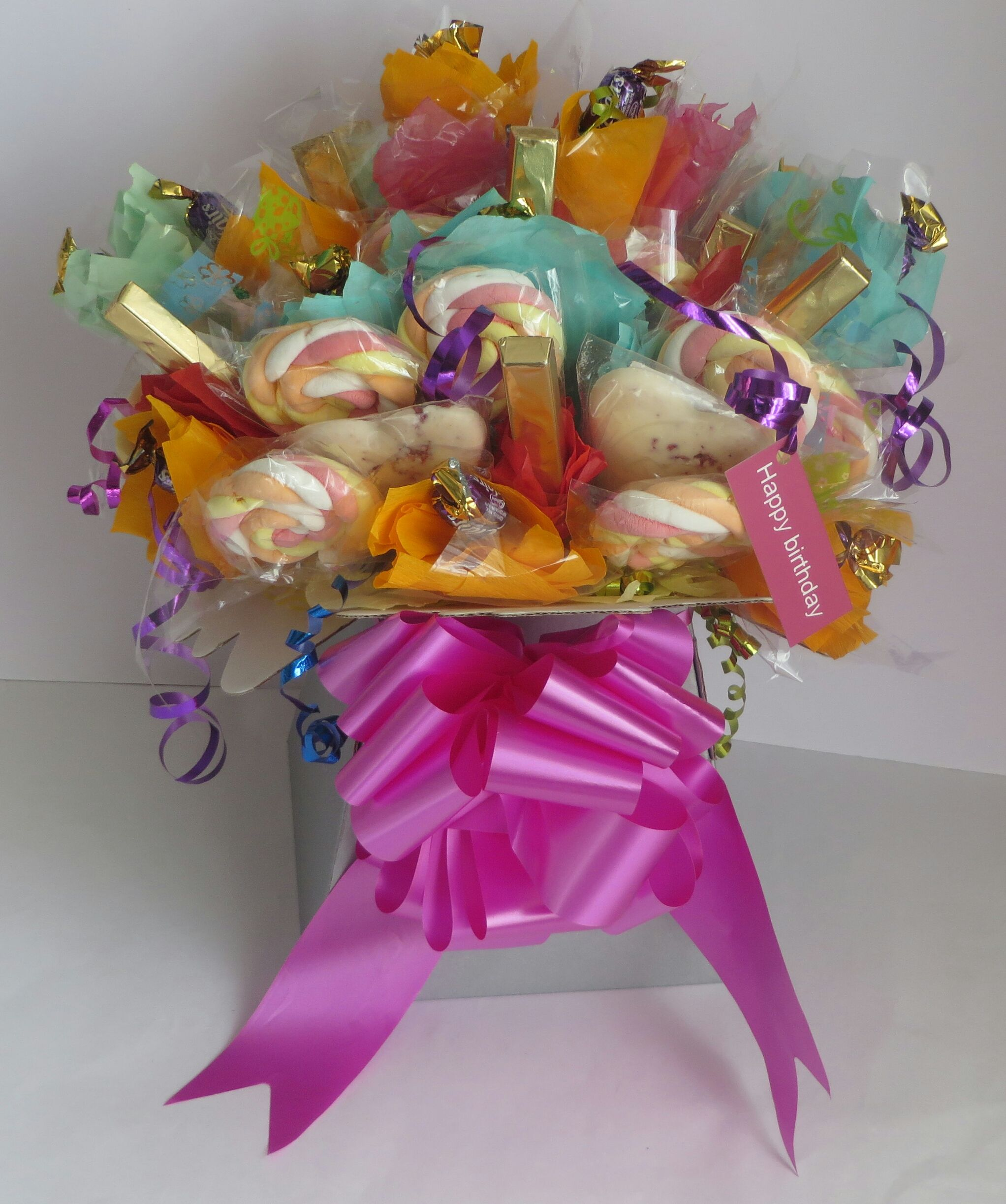 Chocolate and candy bouquet. One birthday present they\'ll love ...