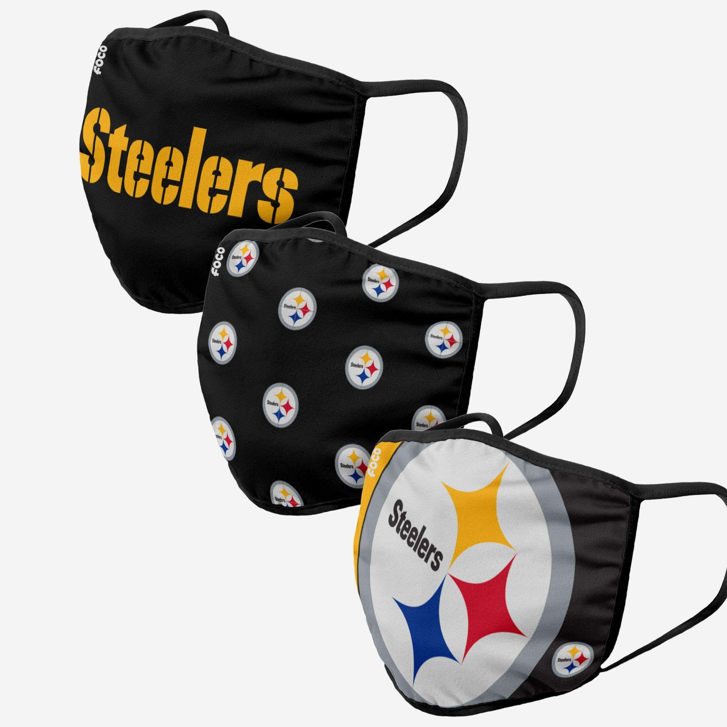 Pittsburgh Steelers 3 Pack Face Cover In 2020 Steelers Pittsburgh Steelers Steelers Gifts