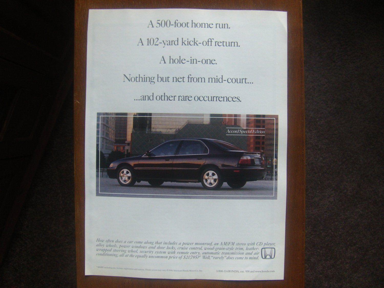 1997 Honda Accord Special Edition 4d Classic Vintage Advertisement Vintage Advertisements Best Man Caves Honda Accord