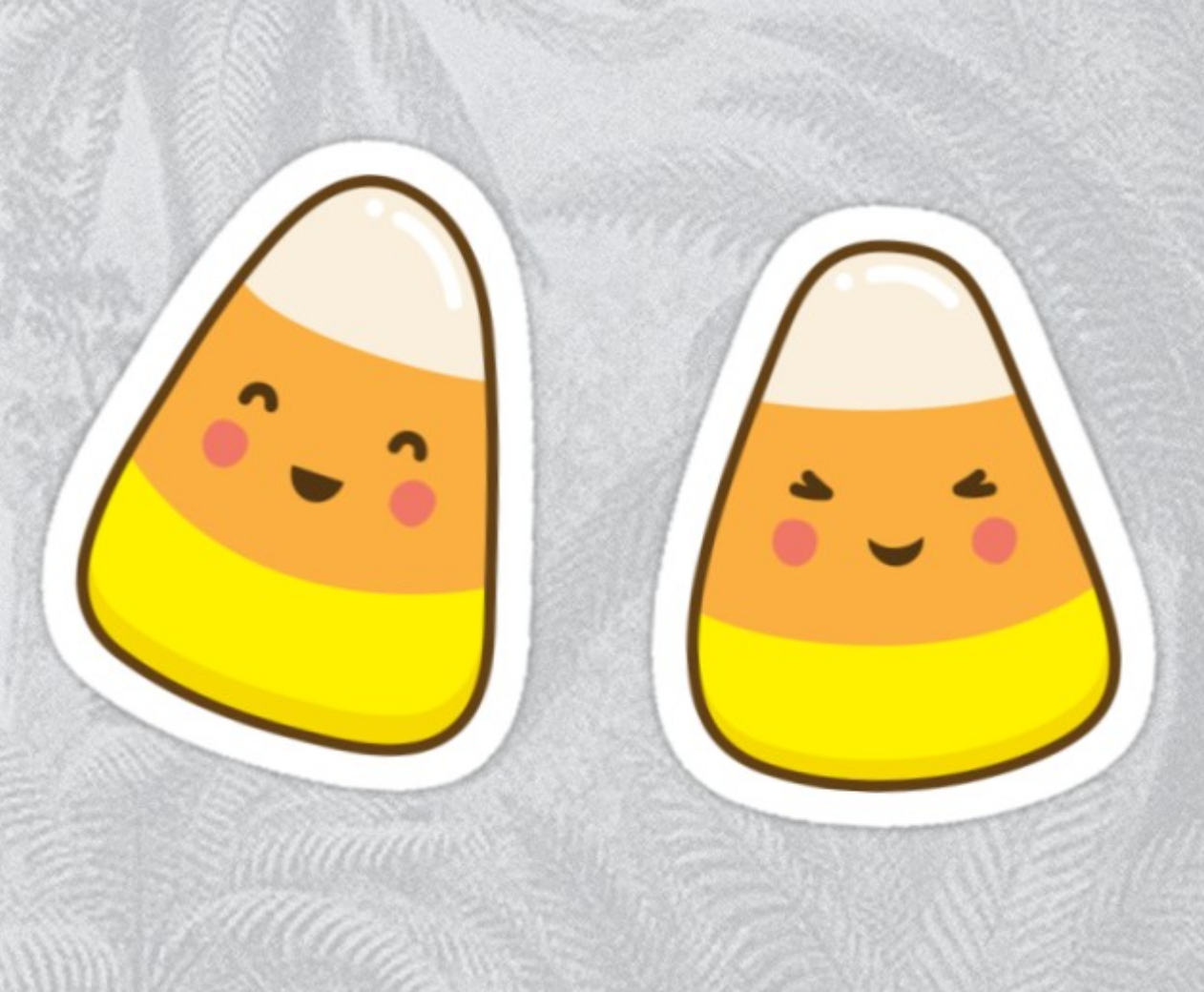 Cute Kawaii Style Candy Corn Sticker By Mheadesign Cute Stickers Vinyl Decals Laptop Stickers