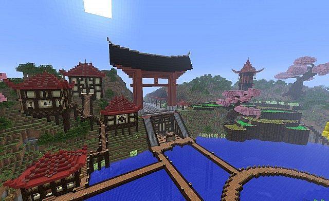 risultati immagini per minecraft giardino zen