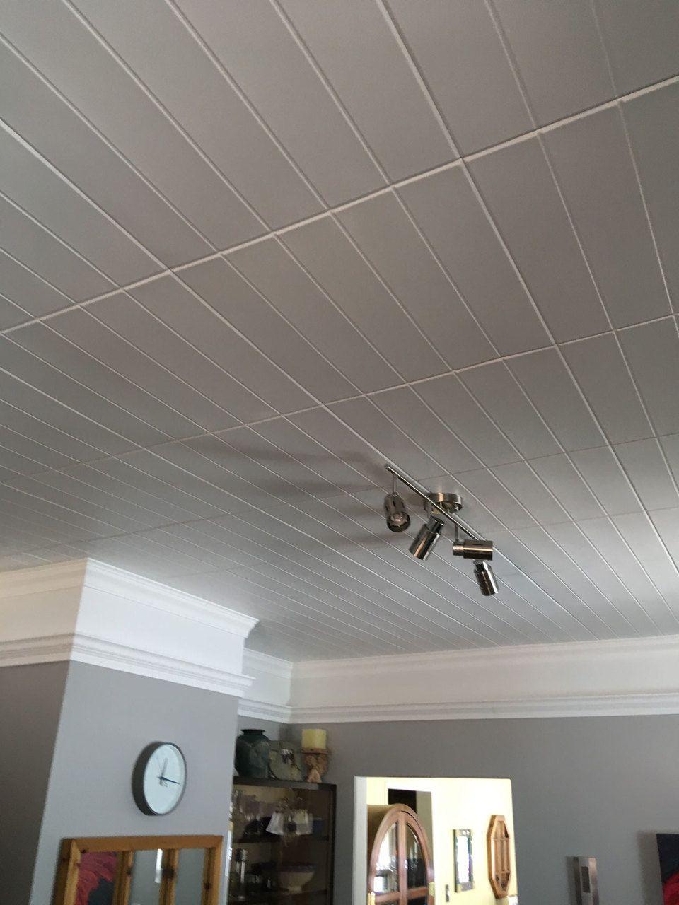 Bead Board Glue Up Styrofoam Ceiling Tile 20 In X 20 In R104 Styrofoam Ceiling Tiles Ceiling Remodel Ceiling Tile