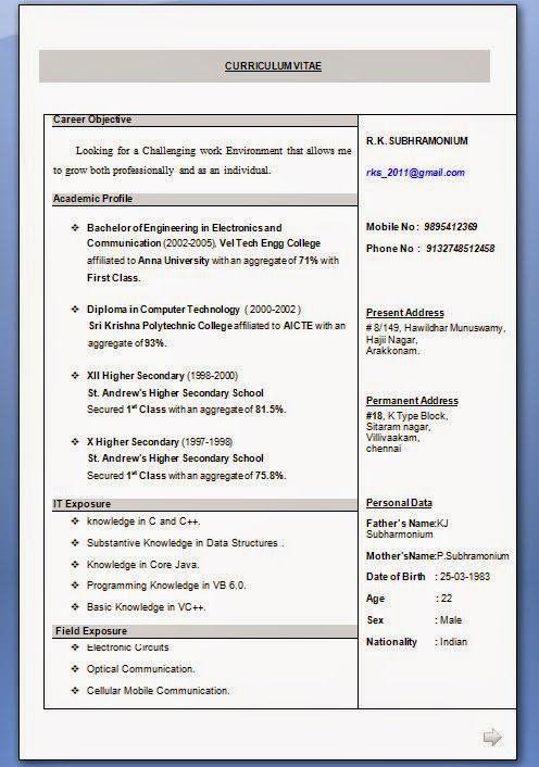 Free Resume Builders Online Sample Template Example Of Excellentcv