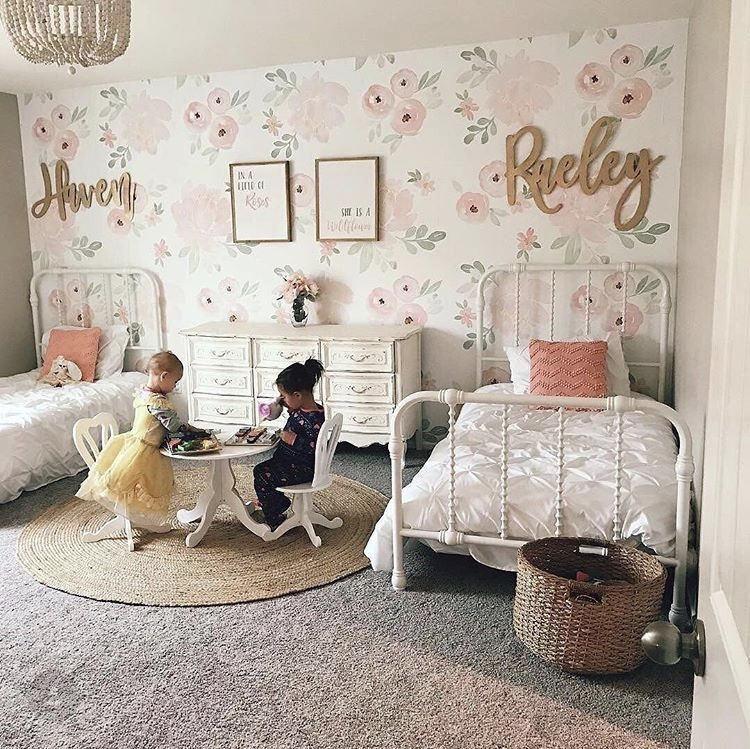 42 Custom Backdrop Name Sign Wood Shared Girls Bedroom Shared Girls Room Girl Room