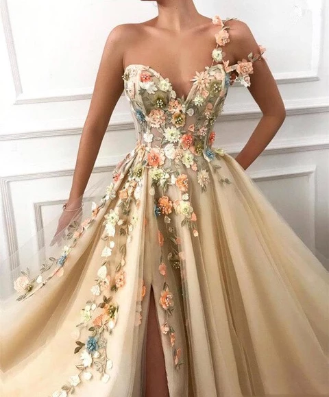 2020 Gorgeous One Shoulder Evening Dress