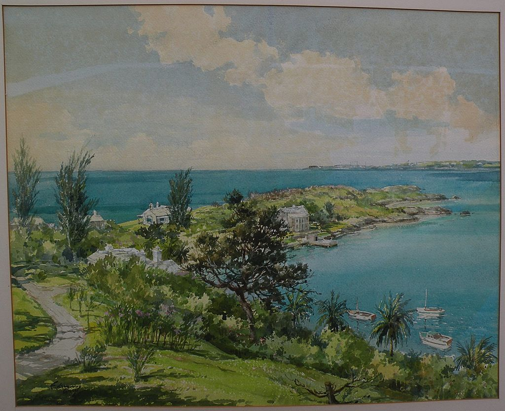 F Kenwood Giles 1899 1900 1972 Bermuda Art Original Mid Century