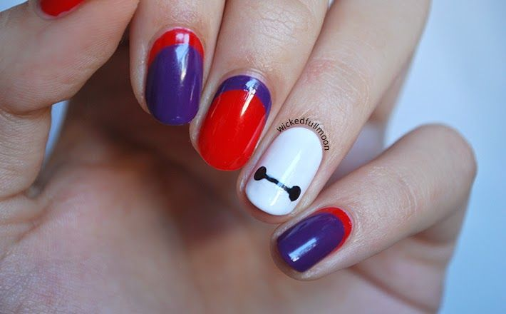 wicked fullmoon nail art baymax
