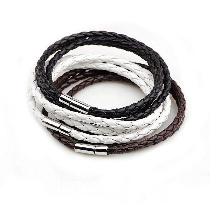 2016 Nieuwe Mode PU Gevlochten Lederen Armband Mannen Armband voor Vrouwen Sieraden Multilayer Lederen Sluitingen Bedelarmband