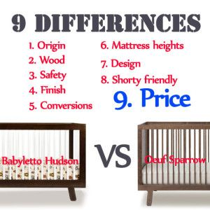 9 difference between babyletto hudson crib and oeuf sparrow crib