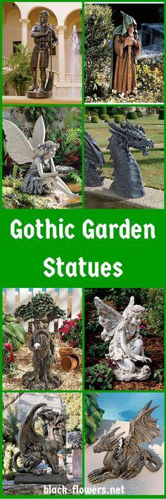 Beau Gothic Garden Statues