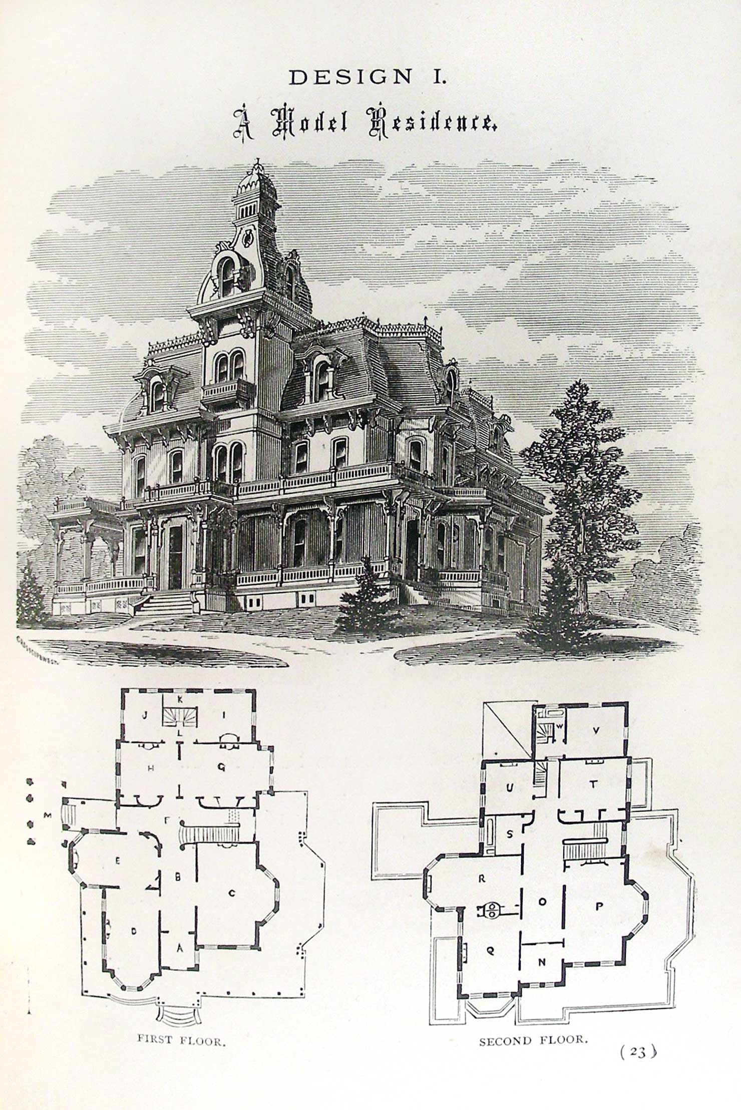 An old and traditional Victorian with it\'s floor plan as well as an ...