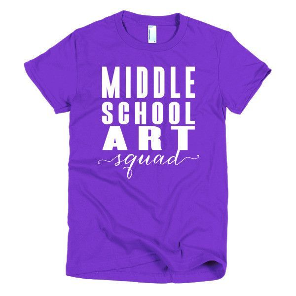 Middle School Art Squad- Short sleeve women's t-shirt