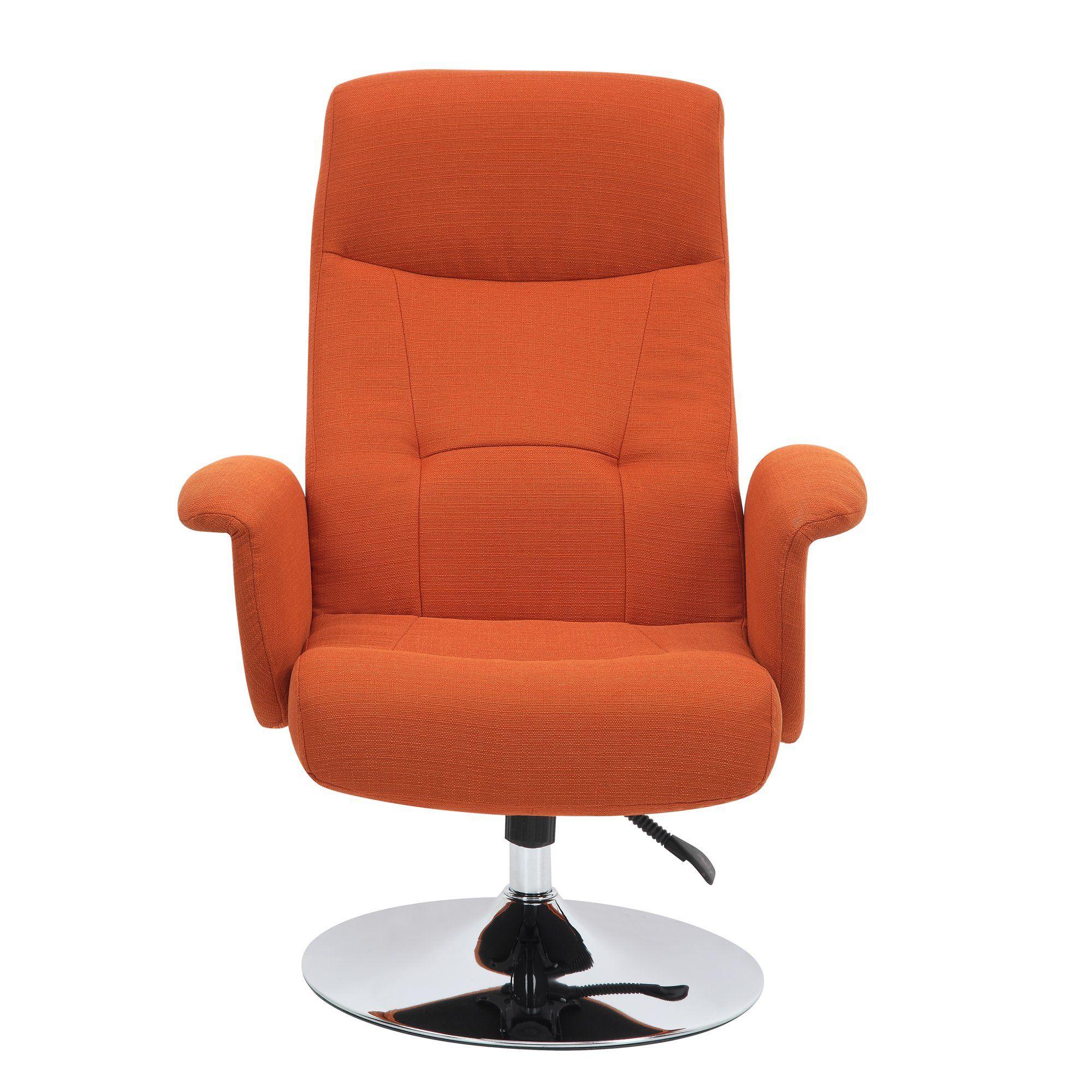 Homesvale Dublin Chair & Ottoman in Orange Linen Walmart
