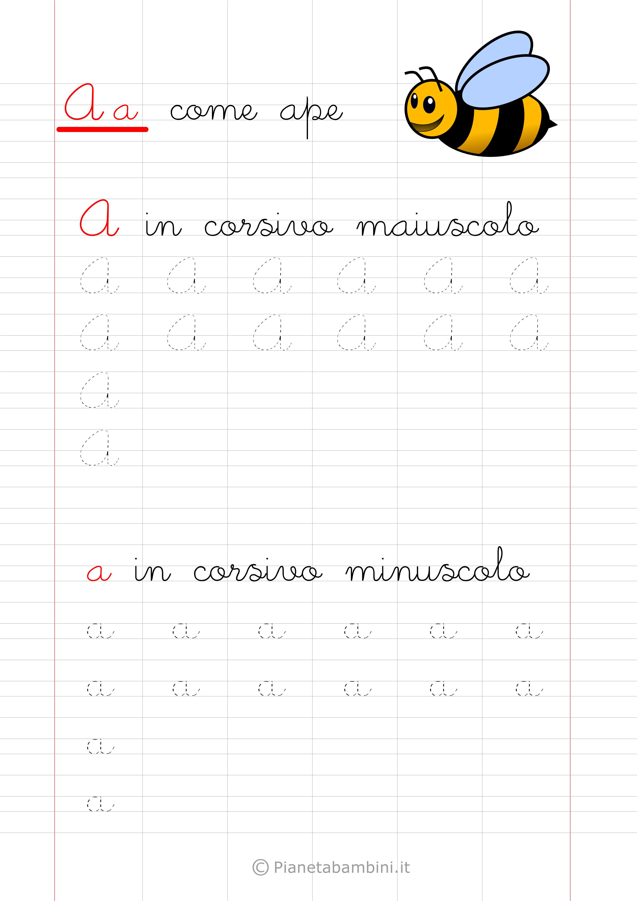 Favorito Pregrafismo-Lettera-A-Corsivo.png (2480×3508) | Scuola | Pinterest  UJ72
