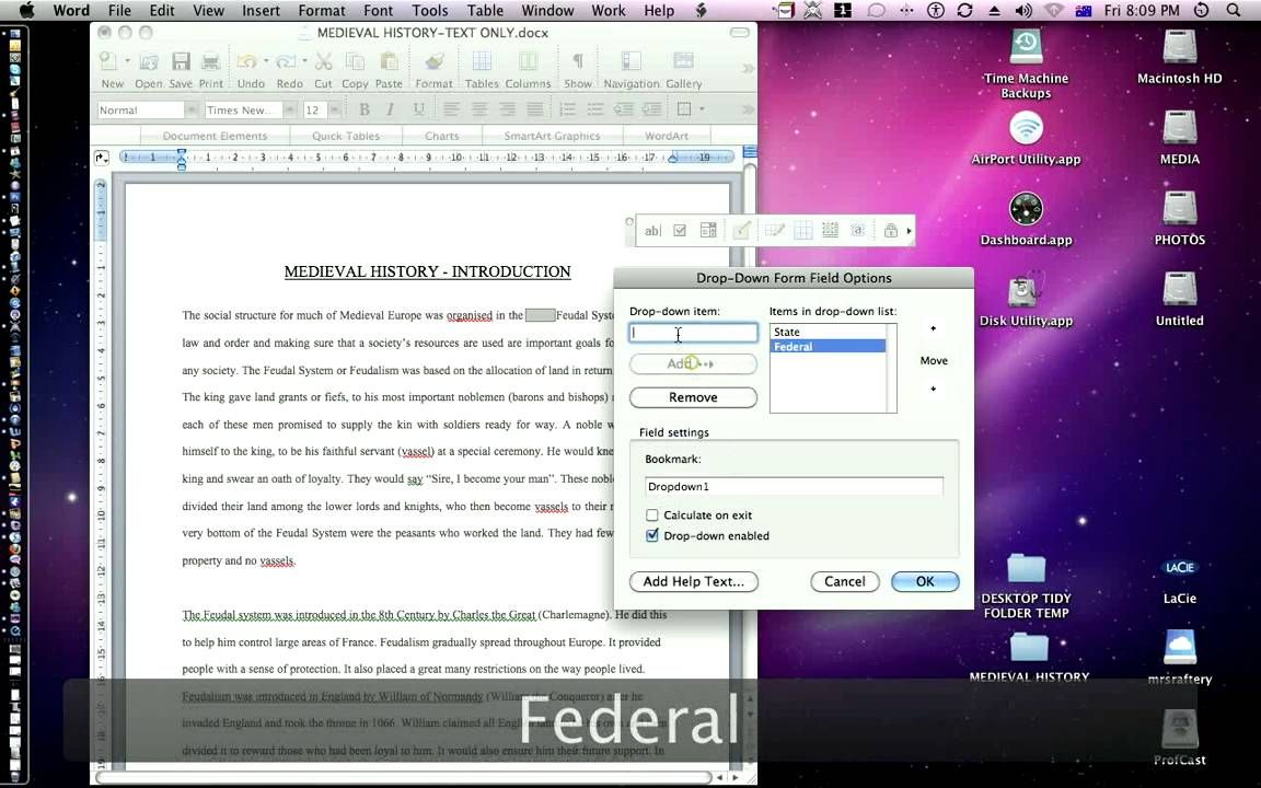 MS Word How to create interactive worksheets Words
