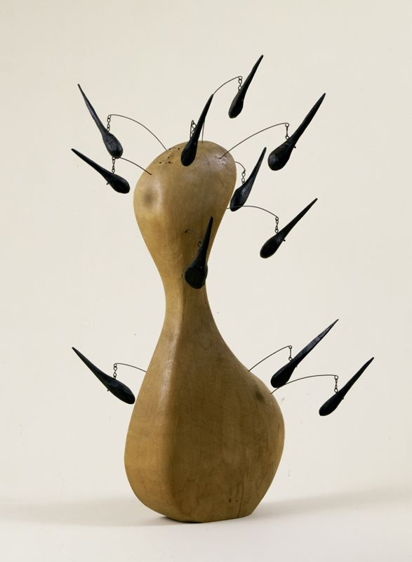 Alexander Calder ~ Wooden Bottle with Hairs, 1943 (wood and wire)
