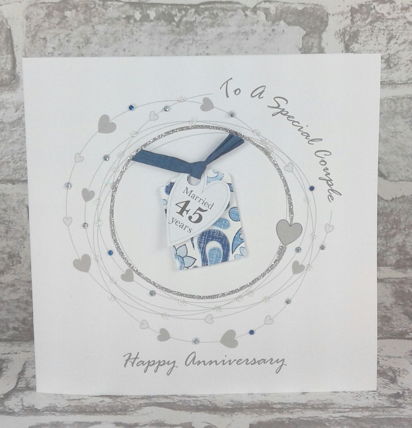 NEW** 45th Wedding Anniversary Card Sapphire Anniversary