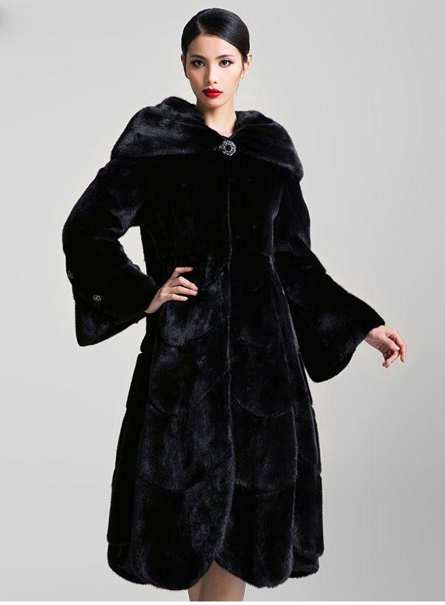 Blackglama Mink Fur Coat Furfashion Mink Blackglama Pelz Leder