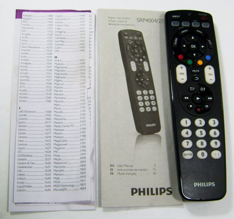 philips srp4004 27 universal 4 in 1 remote control for tv vcr dvd rh pinterest ie