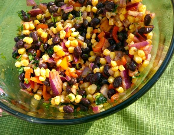 black bean and corn salad also use for salsa with chips