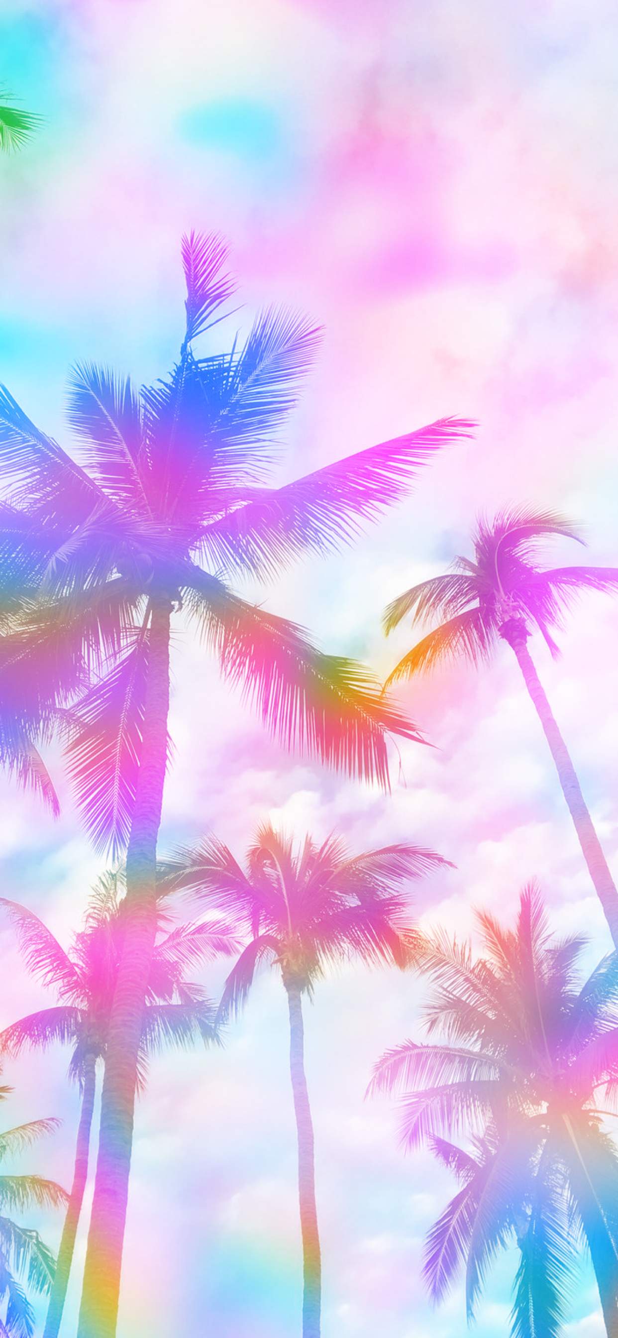 Wallpaper Pink Blue Yellow Background