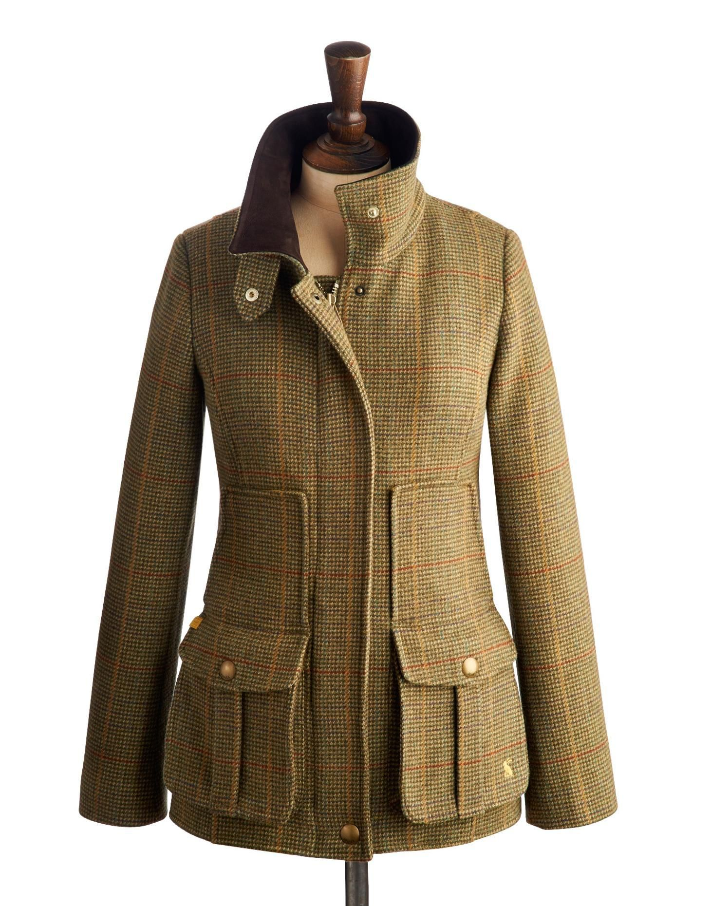 Joules Womens Field Semi Details Tweed about Fitted Coat 2bWH9YIDeE
