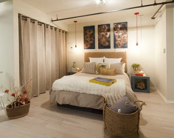 Linen Curtains Instead Of Wardrobe Doors Curtains For Closet Doors Bedroom Design Eclectic Bedroom