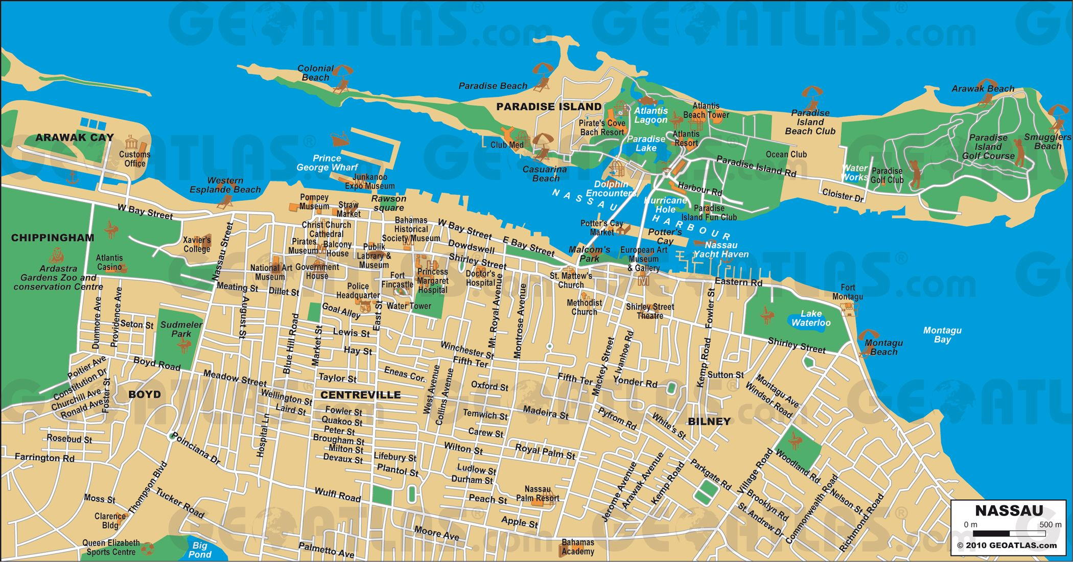Nassau Cruise Port Guide CruisePortWiki Homeschool cruise – Nassau Bahamas Tourist Map