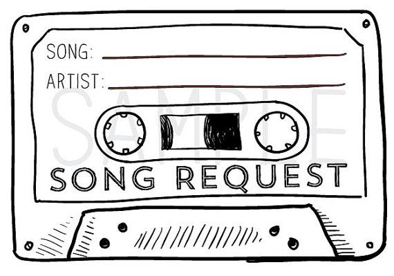 50 Printed Cassette Tape Song Request Rsvp Cards Customized With Your Wedding Rsvp Date Song Request Songs Rsvp Card