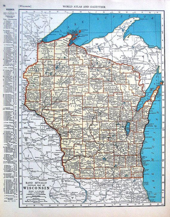 Map of West Virginia Map of Wisconsin US by ...