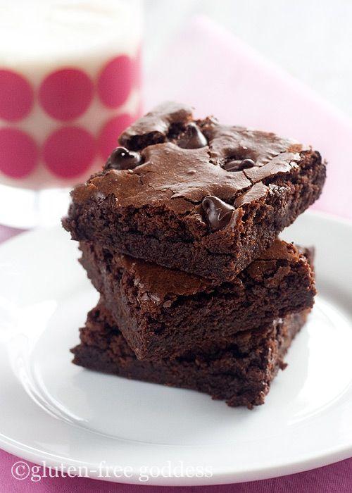 Dark Chocolate Gluten Free Brownies