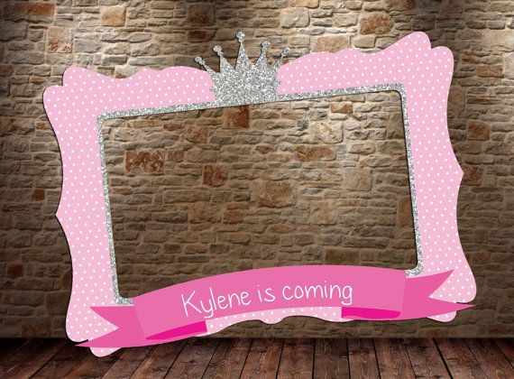 Princess frame, DIGITAL FILE, little Princess birthday Party, Princess Baby…