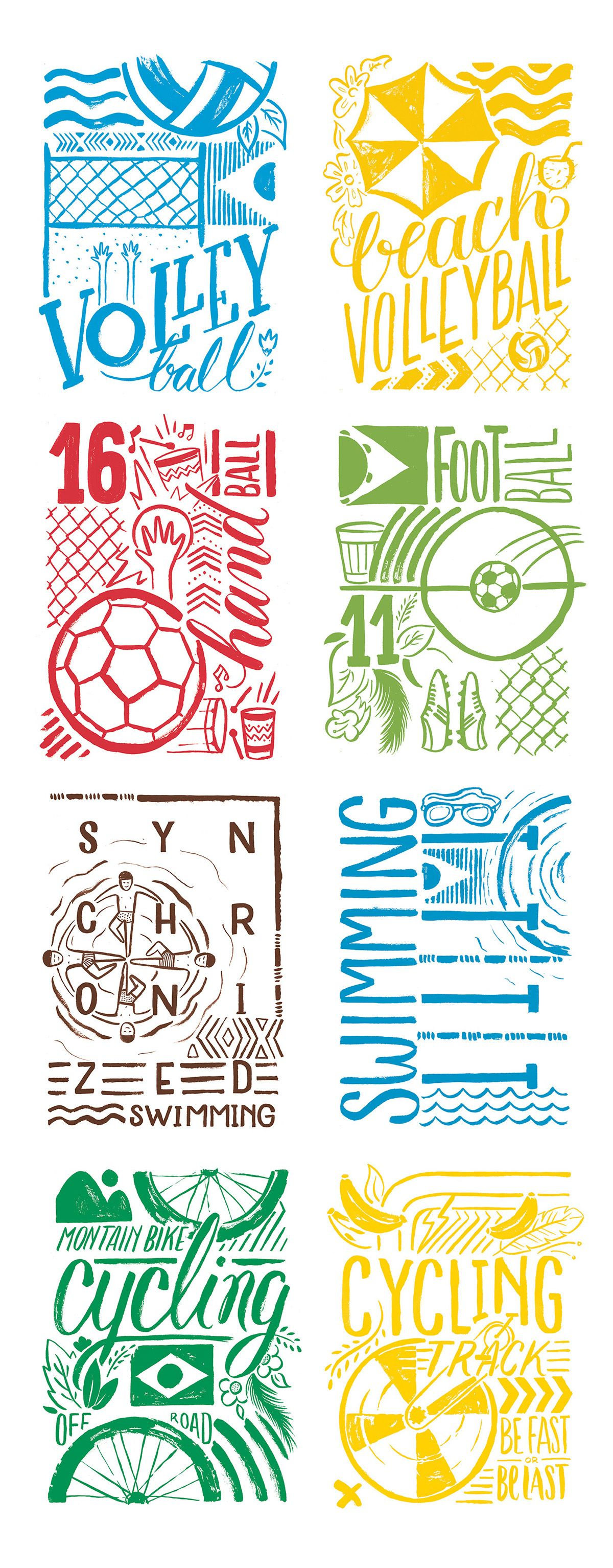 RIO 2016 + WSGN on Behance   bicicletas   Poster, Graphic illustration, Sports graphics