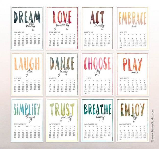 Calendar Inspirational : Free printable calendars inspirational studio and