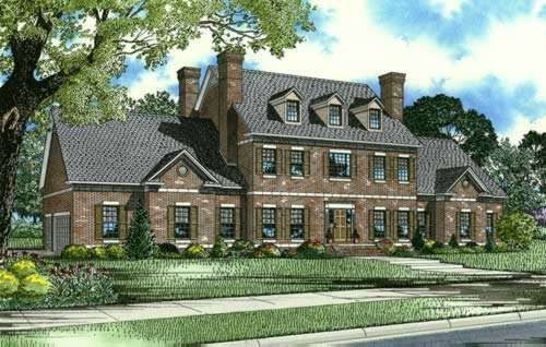Colonial Style Home Design English Country House Plans Colonial House Plans Brick House Plans