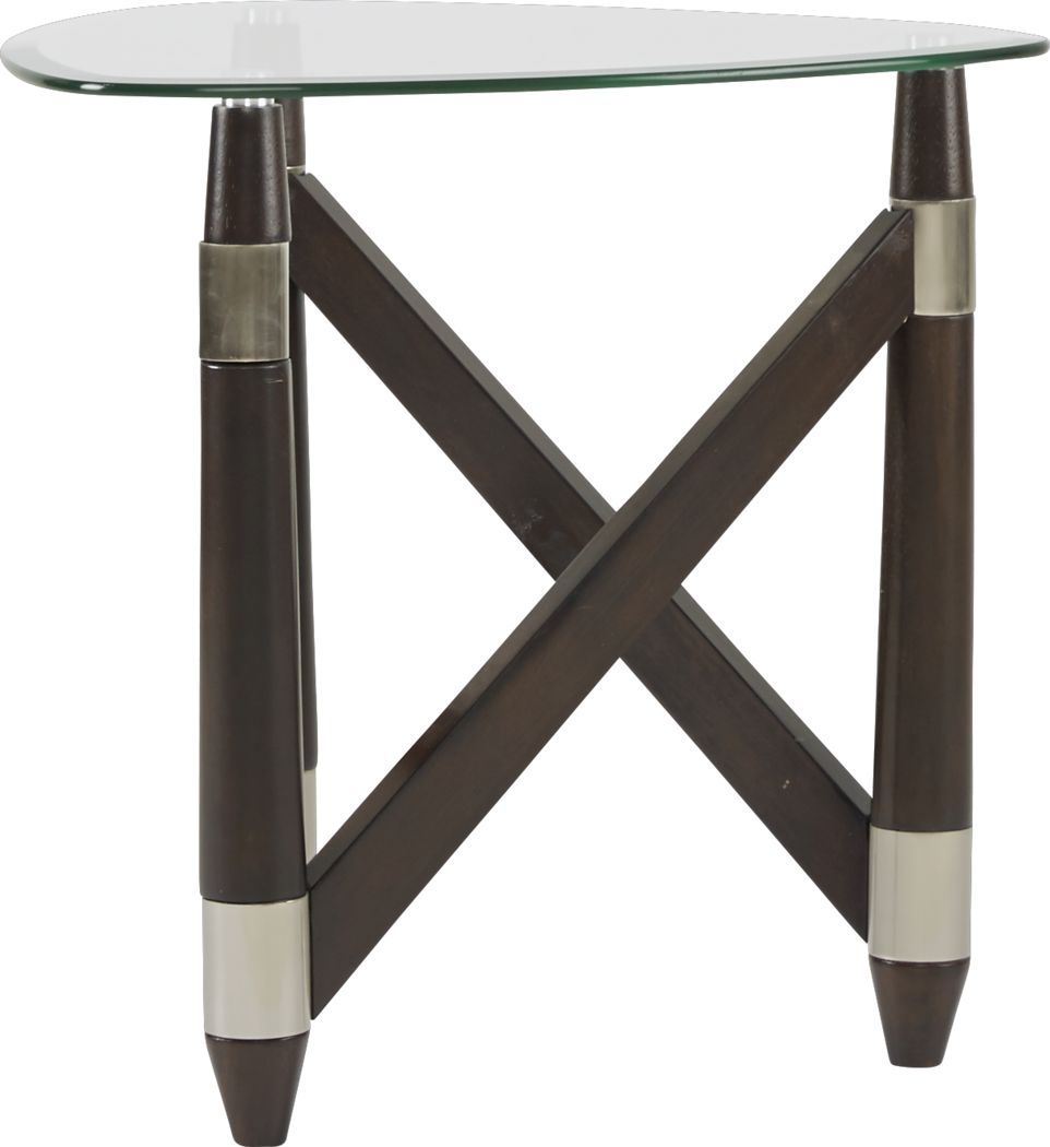 Colden Espresso End Table Espresso End Table End Tables Beveled Glass