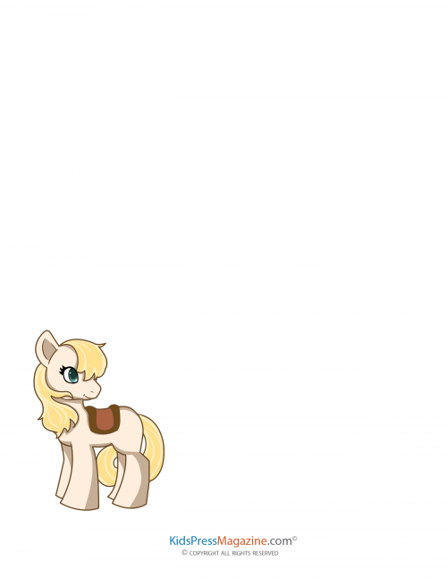 My Little Pony Blank Page 4