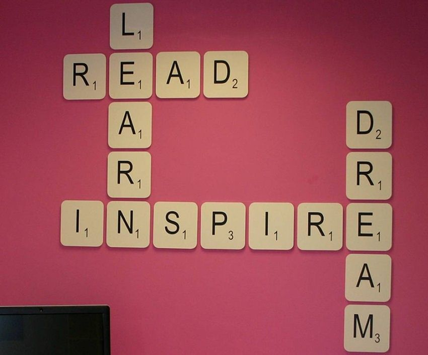 Wall Art Design Ideas: Live Laugh Love Giant Scrabble