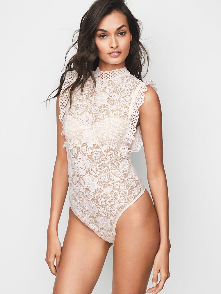 02ce057ab05 Eyelet   Crochet Lace High-neck Teddy - Dream Angels - Victoria s Secret
