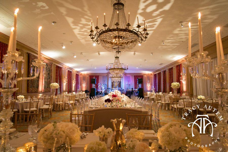 Elaborate Gold Wedding Reception At Fort Worth Club