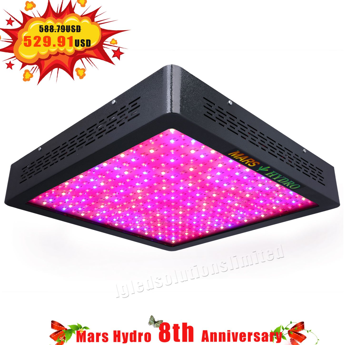 Big Discount Mars Ii 1600w Led Grow Light Indoor Plant Lights Led Grow Lights Plant Lighting