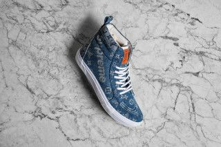 58fe172710 Vans SK8-Hi Gets a Luxe Makeover in Custom Supreme x Louis Vuitton ...