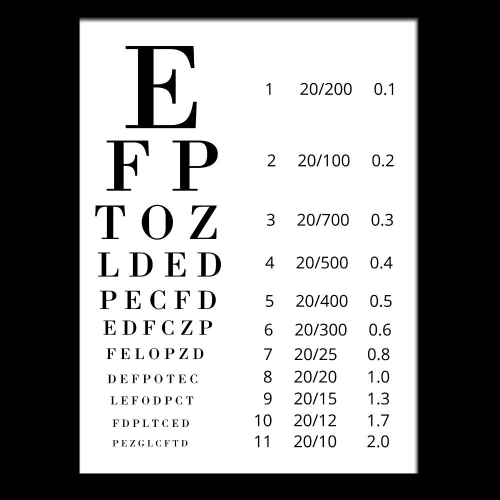 Free eye exam chart printable free eye exam eye exam and chart free eye exam chart printable nvjuhfo Choice Image