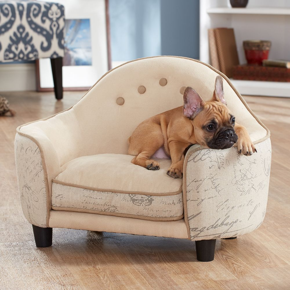 Ultra Plush French White Headboard Furniture Pet Bed Ping The Best Prices On Enchanted Home Sofas
